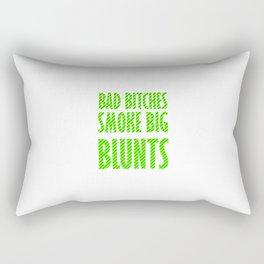 Bad Bitches smoke big blunts | Weed gift idea Rectangular Pillow