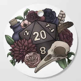 Necromancer D20 Tabletop RPG Gaming Dice Cutting Board