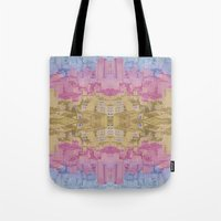 ghost world Tote Bags featuring Ghost City by datavis/pwowk