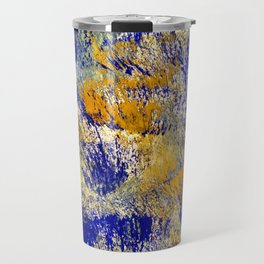 Autumn in yellow and blue Travel Mug