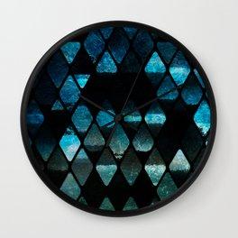 Abstract rhombuses - mermaid version Wall Clock