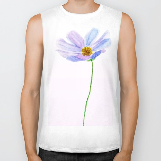 one purple cosmos Biker Tank