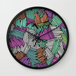 Happy Abstract Nr:04 Wall Clock