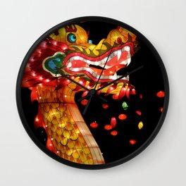 chinese dragon lantern Wall Clock