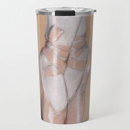 Ballet Pointe Shoes. Travel Mug