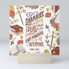 LIBRARIES WERE FULL OF IDEAS Mini Art Print
