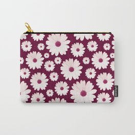 DAISIES IN BURGUNDY Carry-All Pouch