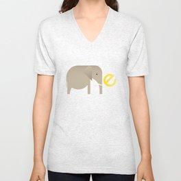 E for Elephant Unisex V-Neck