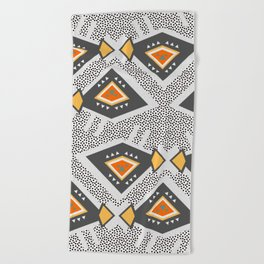 Dotted ethnic pattern Beach Towel