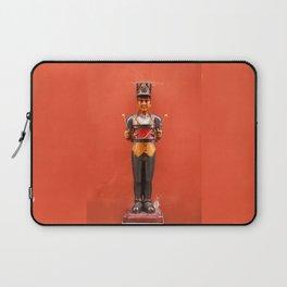 Carved drummer figure decoration Laptop Sleeve