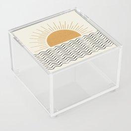 Sunrise Ocean -  Mid Century Modern Style Acrylic Box