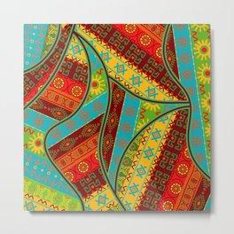 Ethnic Tribal Pattern Art N6 Metal Print