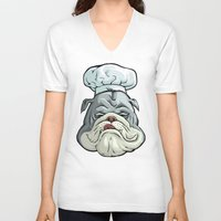 chef V-neck T-shirts featuring Chef by Keyspice