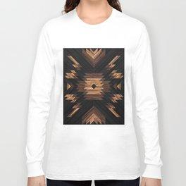Urban Tribal Pattern No.7 - Aztec - Wood Long Sleeve T-shirt