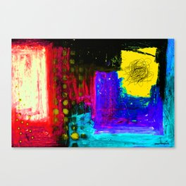 in the yellow window Canvas Print