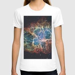 Crab Nebula in constellation Taurus. Supernova Core pulsar neutron star. T-shirt