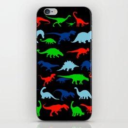 silhouettes of dinosaur pattern iPhone Skin
