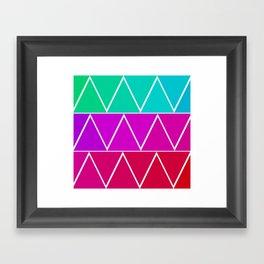 Triangle Pattern! Framed Art Print