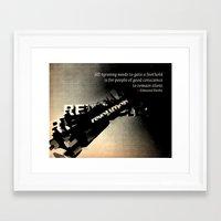 alisa burke Framed Art Prints featuring Edmund Burke Quote by politics