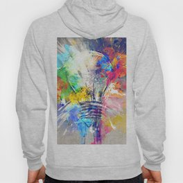 idea concepts  grunge art light bulb with paint splashes different ideas artwork idea Hoody
