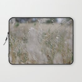 Tall wild grass growing in a meadow Laptop Sleeve