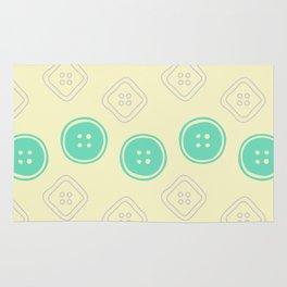 Polka Buttons Cream Rug