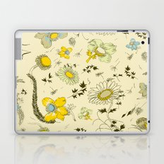 large flowers - cream and yellows Laptop & iPad Skin