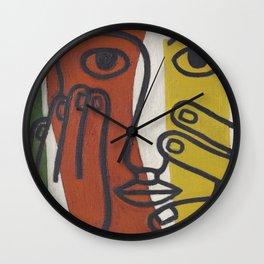 Fernand Léger - Tête de Femme - Art Poster Wall Clock