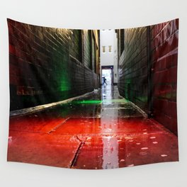 London street red green Wall Tapestry