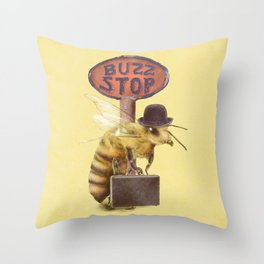 Worker Bee (colour option) Throw Pillow