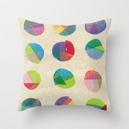 Again with the Retro Dots  Throw Pillow