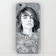 White Moon Garden iPhone Skin