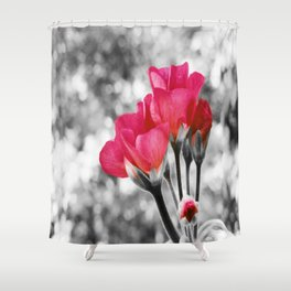 Pink FLOwERS Pop of Color Shower Curtain