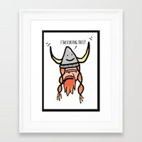 viking Framed Art Prints featuring Viking by Andrea Orlic