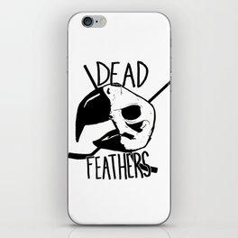 DEAD FEATHERS CREST iPhone Skin