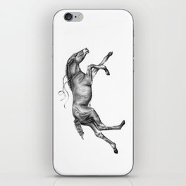 Contra viento /Running horse iPhone Skin
