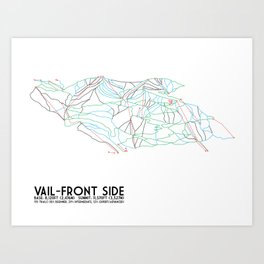 Vail, CO - Front Side - Minimalist Trail Map Art Print