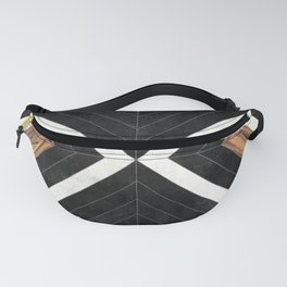 Urban Tribal Pattern No.1 - Concrete and Wood Fanny Pack