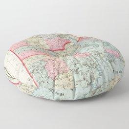 Vintage Map of Rhode Island (1887) Floor Pillow