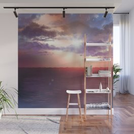 Storm on The Horizon Wall Mural