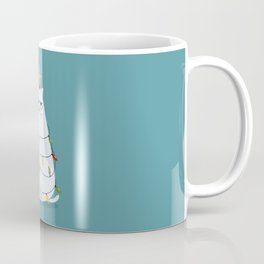 Grumpy Christmas Cat Coffee Mug