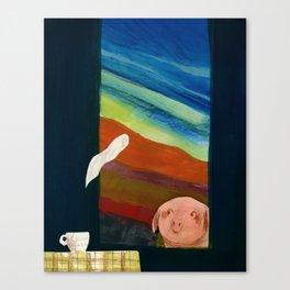Steam away Canvas Print