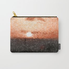 Caribbean, Bahamas, Sunset, Palm, Sea, Photography, BebiCervin Carry-All Pouch