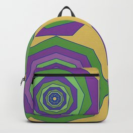 Unbalanced octagon yellow Backpack