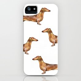 Dachshund Dog Watercolor Painting  iPhone Case