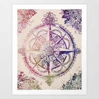 glitter Art Prints featuring Voyager II by Jenndalyn