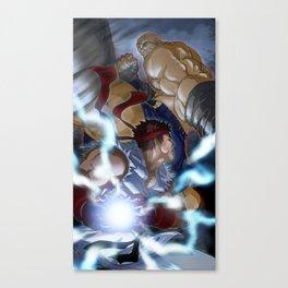 Ryu Vs Sagat Canvas Print