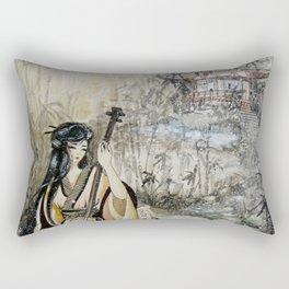 Autumn Creek (Watercolor painting) Rectangular Pillow