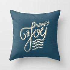Waves of Joy Throw Pillow
