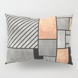 Random Pattern - Concrete and Copper Pillow Sham